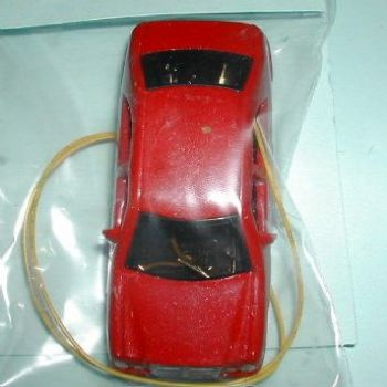 OO Scale car with Head & Tail Lights
